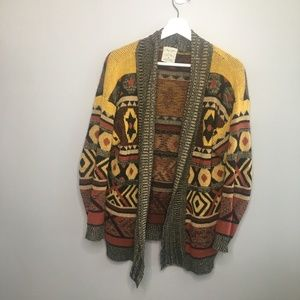 Pins and Needles Aztec Printed Cardigan